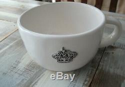 Rae Dunn Crown Have A Royal Day Cappuccino Coffee Mug 2014 Extremely Rare #2