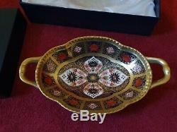 Royal Crown Derby 1st Quality Melbourne Old Imari Tray with Solid Gold Band