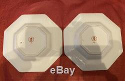 Royal Crown Derby 1st Quality Old Imari 1128 Octagonal Pair or Plates 22cm