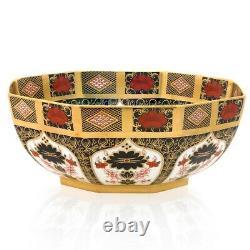 Royal Crown Derby 1st Quality Old Imari SGB Octagonal Bowl, Large 10.5/26.5cm