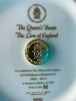 Royal Crown Derby 1st Quality Queens Beast Lion of England Paperweight
