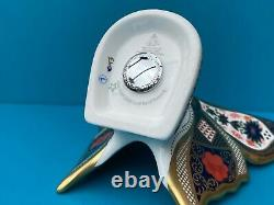 Royal Crown Derby 2nd Quality Old Imari Gold Band Butterfly Paperweight