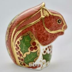 Royal Crown Derby Christmas Squirrel Paperweight New 1st Quality