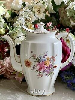 Royal Crown Derby Coffee Pot Derby Posies LARGE! First Quality! Perfect! Unused