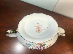 Royal Crown Derby Days large Teapot Creamer Sugar First Quality Royal shape new