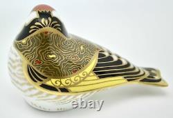 Royal Crown Derby Goldfinch Bird Paperweight New 1st Quality