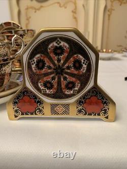 Royal Crown Derby Imari 1128 Desk Top Clock 1st Quality