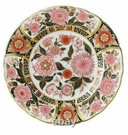 Royal Crown Derby Imari Accent Pink Bouquet Plate New 1st Quality (Boxed)