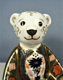 Royal Crown Derby OLD IMARI SOLID GOLD BAND BEAR paperweight Designer Lisa Law