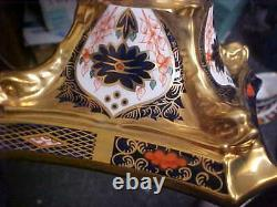 Royal Crown Derby Old Imari 1128 10 1/2 Tall Candlesticks (PAIR) MINT NEW