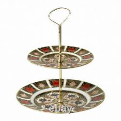 Royal Crown Derby Old Imari 1128 2 Tier Cake Stand (G/Boxed)
