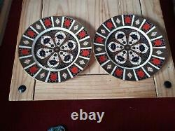 Royal Crown Derby Old Imari 1128 XXXIX, Pair of Dinner Plates