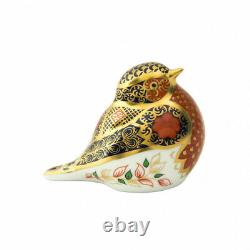Royal Crown Derby Old Imari Solid Gold Band Robin Paperweight 2nd Quality