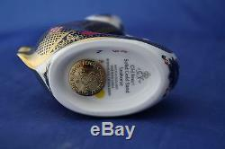 Royal Crown Derby Old Imari Solid Gold Band Seahorse Paperweight New / Boxed