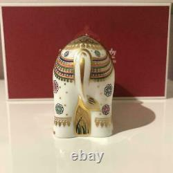 Royal Crown Derby Paperweight Elephant Child Lavi