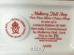 Royal Crown Derby Paperweight Mulberry Hall Shop Ltd Edition 292 / 500 New Boxed