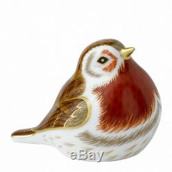 Royal Crown Derby Porcelain Animal Paperweight Royal Robin
