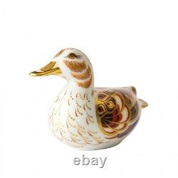 Royal Crown Derby Porcelain Animal Paperweight Wigeon Duck