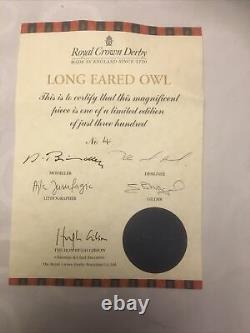 Royal Crown Derby Prestige Long Eared Owl. Limited Edition 300