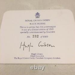 Royal Crown Derby Race Horse Limited Edition. Signed