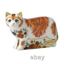 Royal Crown Derby SUGAR CAT Paperweight Discontinued