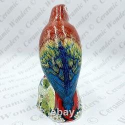 Royal Crown Derby Scarlet Macaw Parrot Paperweight Boxed Gold Stopper