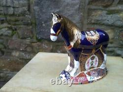 Royal Crown Derby Shirehorse Paperweight Limited Edition of 1500 box/cert