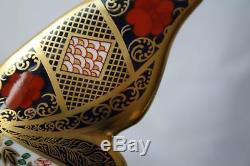 Royal Crown Derby Solid Gold Band Imari Butterfly Paperweight New / Boxed