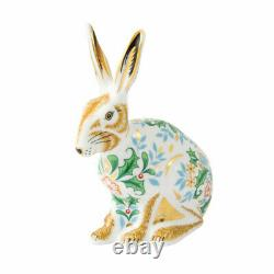 Royal Crown Derby Winter Hare Paperweight