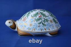 Royal Crown Derby Winter Tortoise Paperweight Brand New / Boxed
