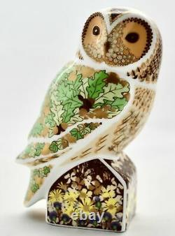 Royal Crown Derby Woodland Owl Bird Paperweight New 1st Quality