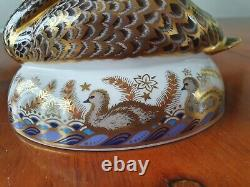 Royal Crown Derby'golden Jubilee'black Swan' Limited Edition No 648 New