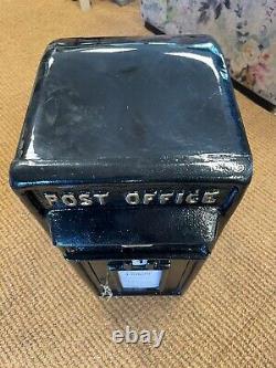 Royal Mail Cast Iron Black post box Gold Crown Royal post box