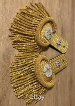 Royal Navy Admiral Of The Fleet Full Dress Shoulder Boards Kings Crown reduced