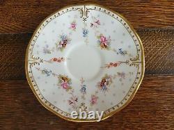 Royal crown derby antoinette. 6 teacups And saucers. 5 fruit plates. Vintage new