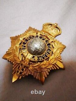 Royal marines officer pith helmet badge, king's crown