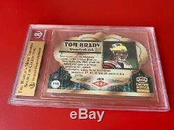 Tom Brady Patriots 2000 Crown Royale Rookie Card #110 BGS 9.5 Gem Mint 2x 10
