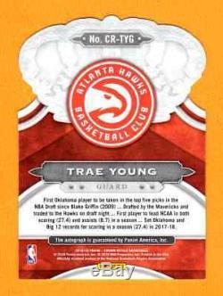 Trae Young 2018-19 Crown Royale Autograph Auto Rc Sp # / 25 Atlanta Hawks