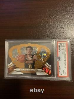 Trae Young 2018-19 Panini Crown Royale #/99 PSA 9 MINT ROOKIE RC HAWKS #81 SP