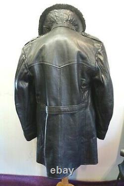 Vintage Ww2 Swedish O. S. B. Horsehide Leather Jacket Size Uk M/l 3 Royal Crowns