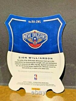 Zion Williamson #09/17 Ssp On Card Auto 2020-21 Crown Royale Fotl Pack Fresh