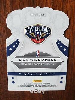 Zion Williamson 2019 20 Crown Royale Rookie Auto Rc Pelicans 10/49