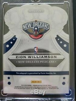 Zion Williamson 2019/20 Panini Crown Royale Rookie Signature Mint RC Auto /99